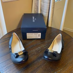 NWT Cole Haan ballet flats black leather size 9